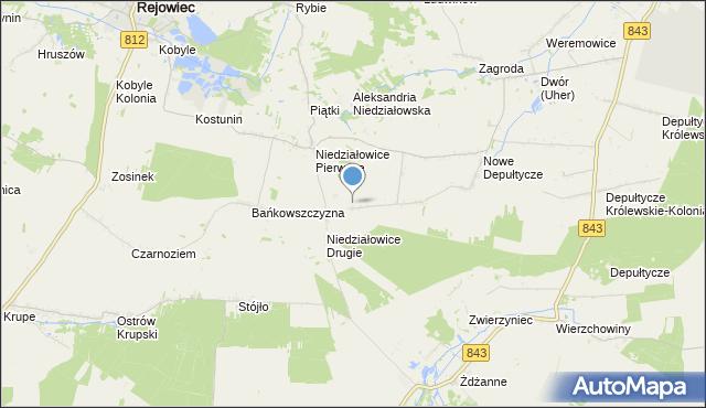 mapa Wojniaki, Wojniaki na mapie Targeo