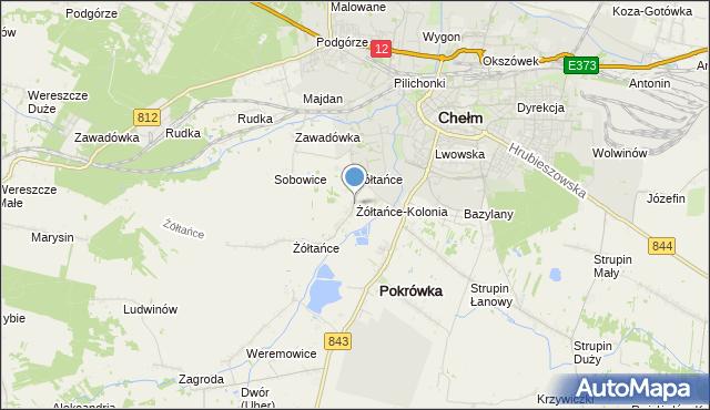 mapa Żółtańce-Kolonia, Żółtańce-Kolonia na mapie Targeo