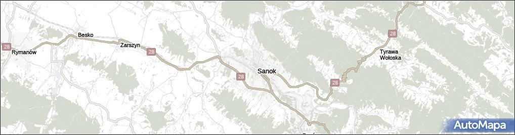 Mapa Sanok Sanok Na Mapie Targeo