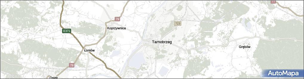 Mapa Tarnobrzegu Tarnobrzeg Na Mapie Targeo