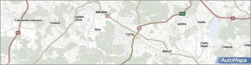 Mapa Tychow Tychy Na Mapie Targeo