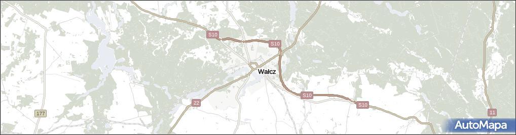Mapa Walcz Walcz Na Mapie Targeo