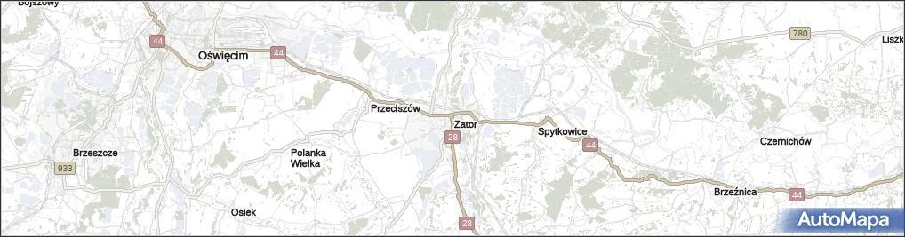 Mapa Zator Zator Powiat Oswiecimski Na Mapie Targeo