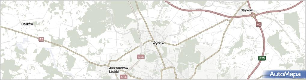 Mapa Zgierz Zgierz Na Mapie Targeo