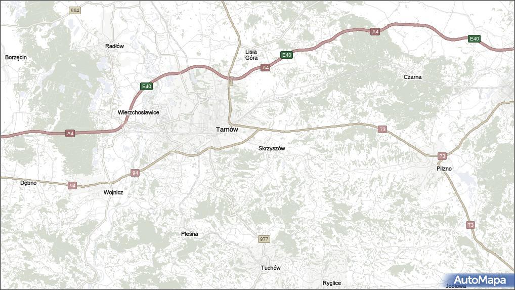 Mapa Skrzyszow Skrzyszow Powiat Tarnowski Na Mapie Targeo