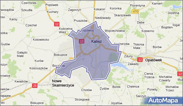 powiat Kalisz - województwo wielkopolskie na mapie Targeo