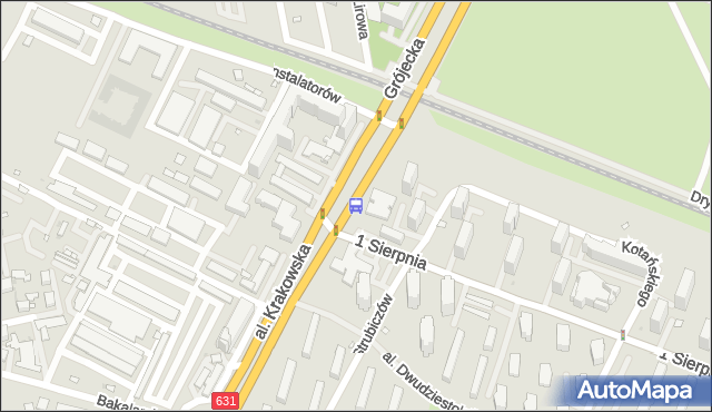 Przystanek 1 Sierpnia 01. ZTM Warszawa - Warszawa (id 400901) na mapie Targeo