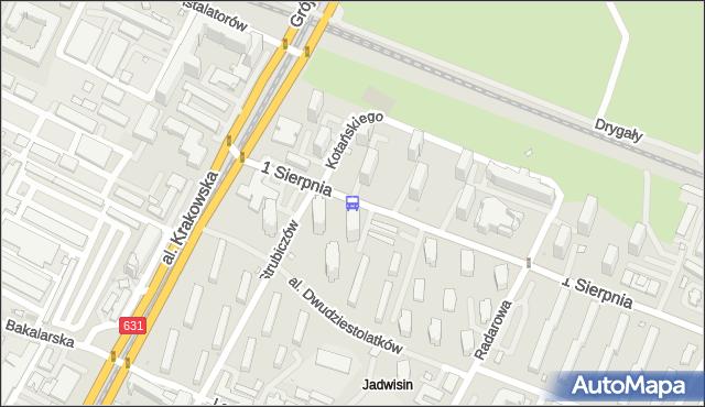 Przystanek 1 Sierpnia 03. ZTM Warszawa - Warszawa (id 400903) na mapie Targeo