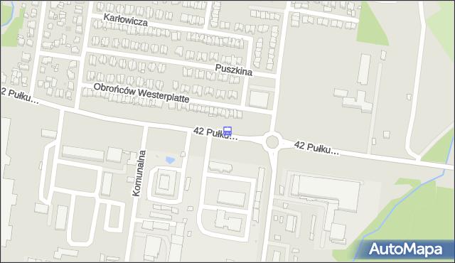 Przystanek 42. PUŁKU PIECHOTY/BRZECHWY. BKM - Białystok (id 200) na mapie Targeo