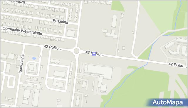 Przystanek 42. Pułku Piechoty/Dolistowska. BKM - Białystok (id 194) na mapie Targeo