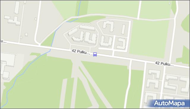 Przystanek 42. Pułku Piechoty/Zacisze Dolistówki. BKM - Białystok (id 195) na mapie Targeo