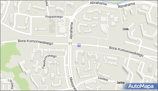 Przystanek Abrahama 01. ZTM Warszawa - Warszawa (id 214501) na mapie Targeo