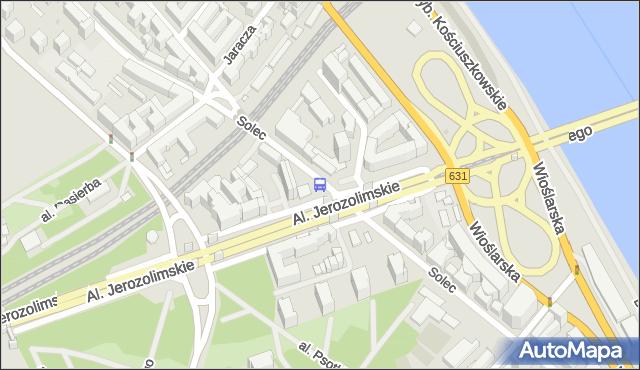 Przystanek Al. 3 Maja 01. ZTM Warszawa - Warszawa (id 706401) na mapie Targeo