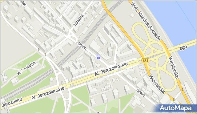 Przystanek Al. 3 Maja 02. ZTM Warszawa - Warszawa (id 706402) na mapie Targeo