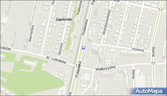 Przystanek al.Lotników 02. ZTM Warszawa - Warszawa (id 301102) na mapie Targeo