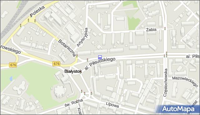 Przystanek AL.PIŁSUDSKIEGO/BOTANICZNA. BKM - Białystok (id 307) na mapie Targeo