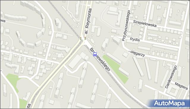 Przystanek al.Reymonta 01. ZTM Warszawa - Warszawa (id 604601) na mapie Targeo