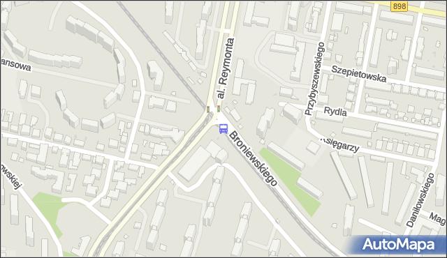 Przystanek al.Reymonta 04. ZTM Warszawa - Warszawa (id 604604) na mapie Targeo