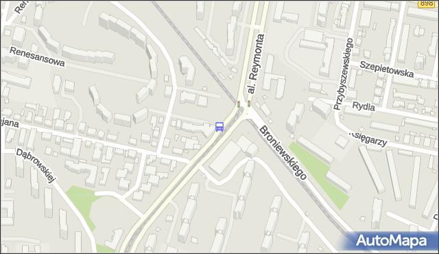 Przystanek al.Reymonta 05. ZTM Warszawa - Warszawa (id 604605) na mapie Targeo