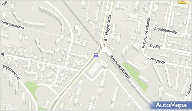 Przystanek al.Reymonta 08. ZTM Warszawa - Warszawa (id 604608) na mapie Targeo