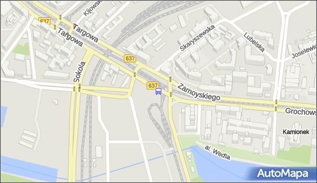 Przystanek al.Zieleniecka 01. ZTM Warszawa - Warszawa (id 200101) na mapie Targeo