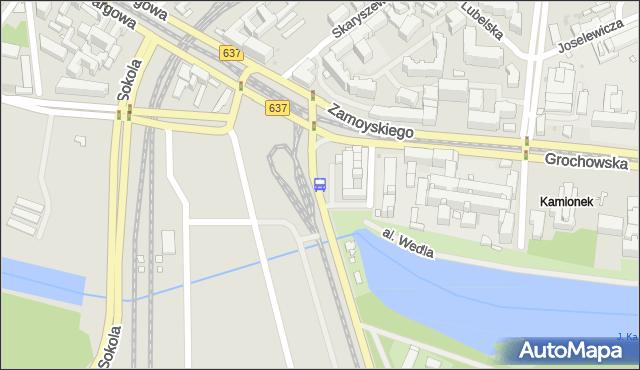 Przystanek al.Zieleniecka 02. ZTM Warszawa - Warszawa (id 200102) na mapie Targeo