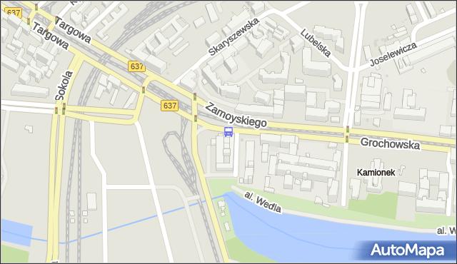 Przystanek al.Zieleniecka 04. ZTM Warszawa - Warszawa (id 200104) na mapie Targeo
