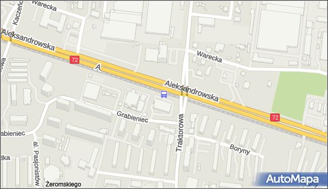 Przystanek Aleksandrowska - Traktorowa. MPKLodz - Łódź (id 10) na mapie Targeo
