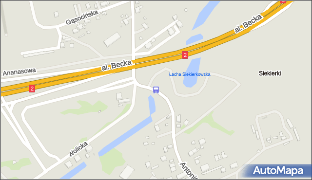 Przystanek Ananasowa 02. ZTM Warszawa - Warszawa (id 307402) na mapie Targeo