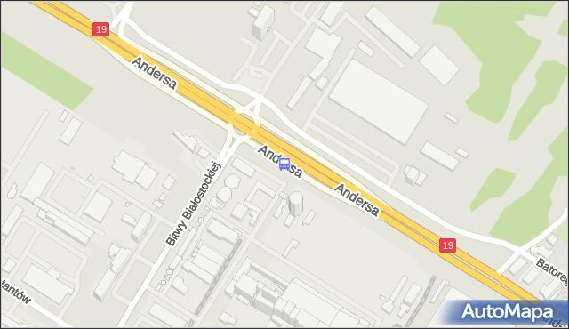 Przystanek Andersa/Elektrociepłownia. BKM - Białystok (id 474) na mapie Targeo