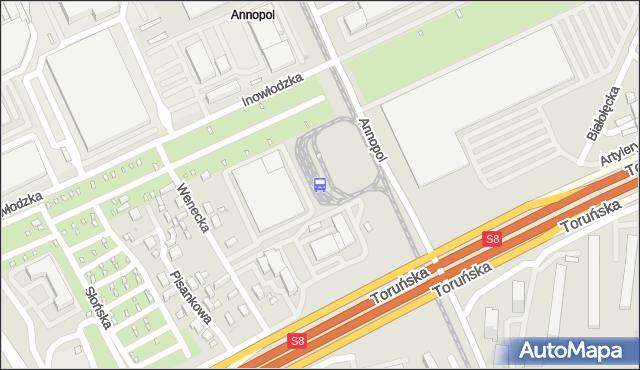 Przystanek Annopol 03. ZTM Warszawa - Warszawa (id 108703) na mapie Targeo