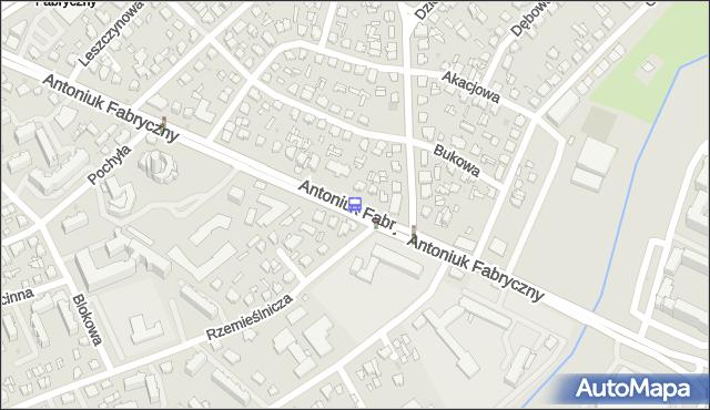Przystanek Antoniuk F./Gajowa. BKM - Białystok (id 7) na mapie Targeo