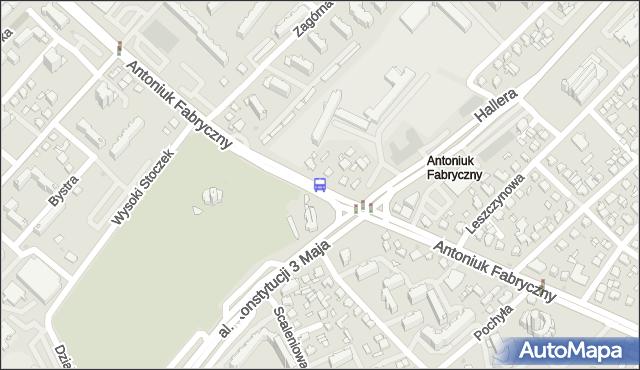 Przystanek ANTONIUK FABRYCZNY/GEN.J.HALLERA.. BKM - Białystok (id 5) na mapie Targeo