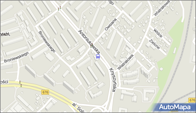 Przystanek Antoniukowska/Knyszyńska. BKM - Białystok (id 12) na mapie Targeo