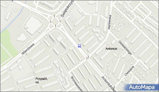 Przystanek Antoniukowska/Narewska. BKM - Białystok (id 14) na mapie Targeo