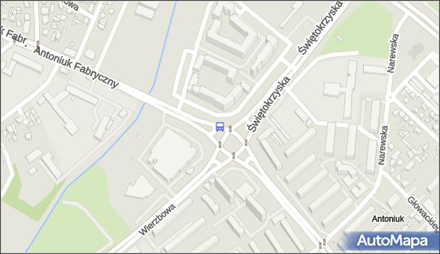 Przystanek Antoniukowska/Świętokrzyska. BKM - Białystok (id 4) na mapie Targeo