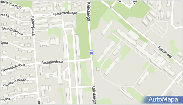 Przystanek Archimedesa 02. ZTM Warszawa - Warszawa (id 505402) na mapie Targeo