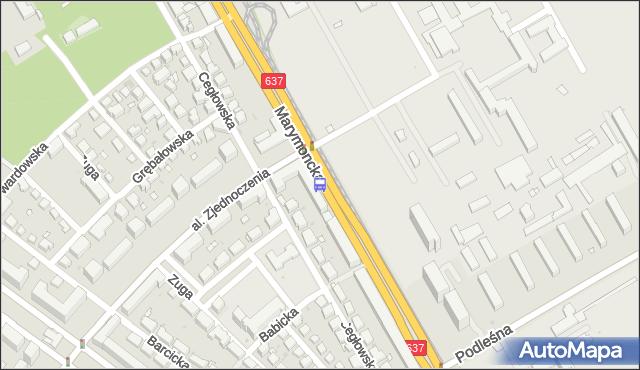 Przystanek AWF 01. ZTM Warszawa - Warszawa (id 600801) na mapie Targeo