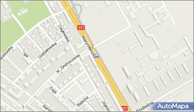 Przystanek AWF 02. ZTM Warszawa - Warszawa (id 600802) na mapie Targeo