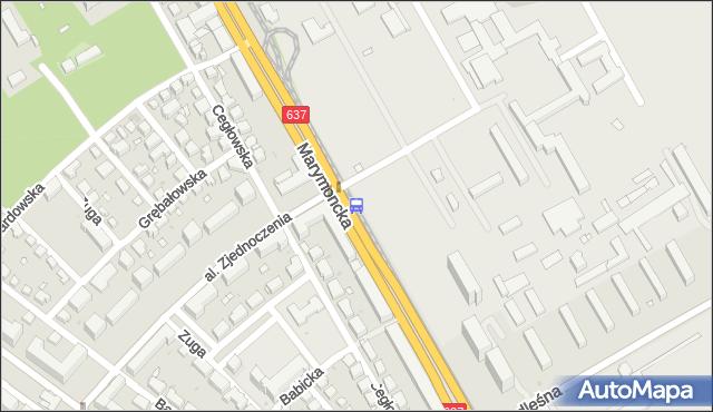 Przystanek AWF 04. ZTM Warszawa - Warszawa (id 600804) na mapie Targeo