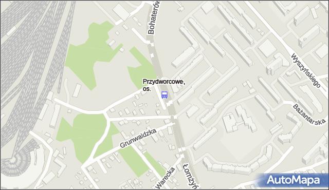 Przystanek B.M.CASSINO/SOSNOWA. BKM - Białystok (id 60) na mapie Targeo