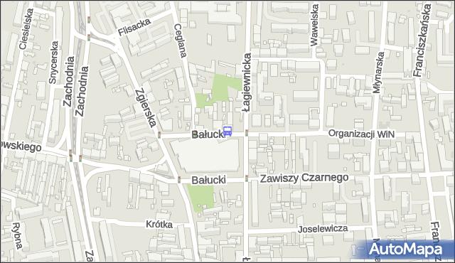 Przystanek Bałucki Rynek. MPKLodz - Łódź (id 1869) na mapie Targeo