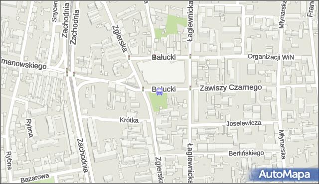 Przystanek Bałucki Rynek. MPKLodz - Łódź (id 1870) na mapie Targeo