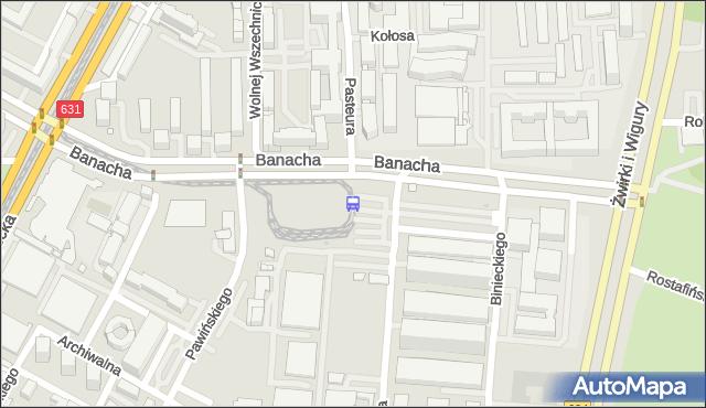 Przystanek Banacha 03. ZTM Warszawa - Warszawa (id 410803) na mapie Targeo