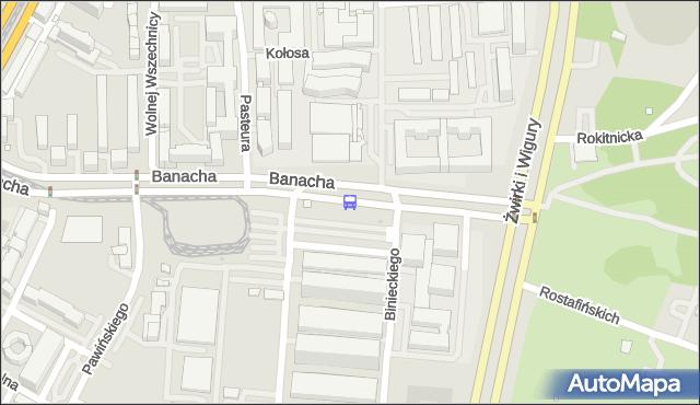 Przystanek Banacha 07. ZTM Warszawa - Warszawa (id 410807) na mapie Targeo