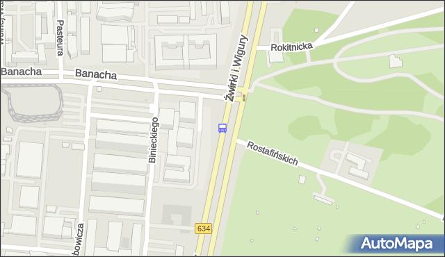 Przystanek Banacha-Szpital 01. ZTM Warszawa - Warszawa (id 403001) na mapie Targeo