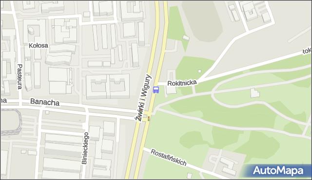 Przystanek Banacha-Szpital 02. ZTM Warszawa - Warszawa (id 403002) na mapie Targeo