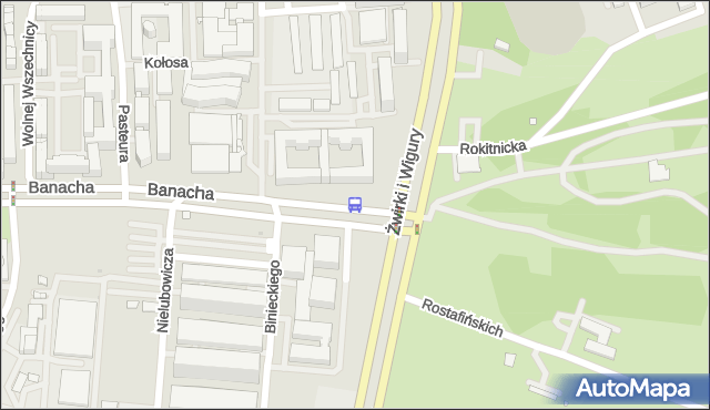 Przystanek Banacha-Szpital 04. ZTM Warszawa - Warszawa (id 403004) na mapie Targeo