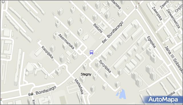 Przystanek Batumi 02. ZTM Warszawa - Warszawa (id 309302) na mapie Targeo