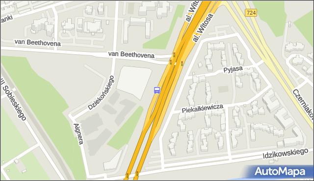 Przystanek Beethovena 01. ZTM Warszawa - Warszawa (id 332501) na mapie Targeo